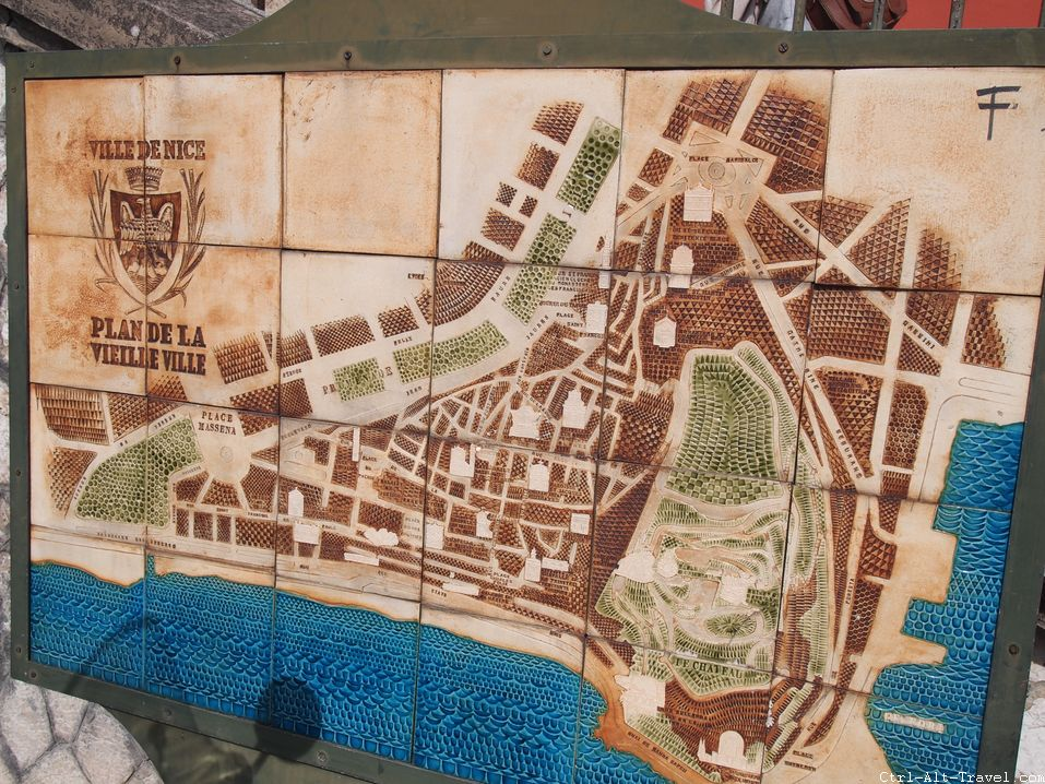 Map of Old Nice