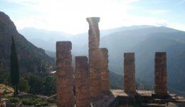 Delphi Ruins Temple Pillars