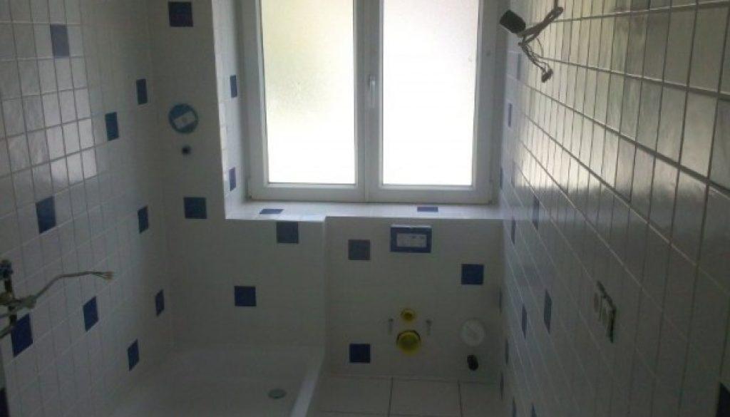Bath with tile