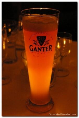 Ganter Pilsner, glowing