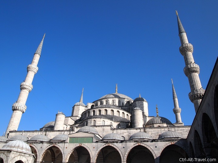 Blue Mosque outside from courtyard